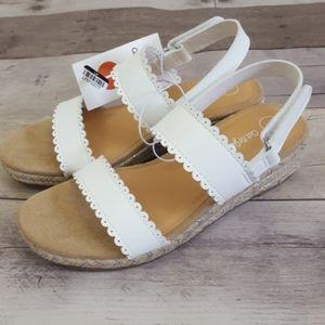 Cat & Jack Girls' Chessie Espadrille Sandal White